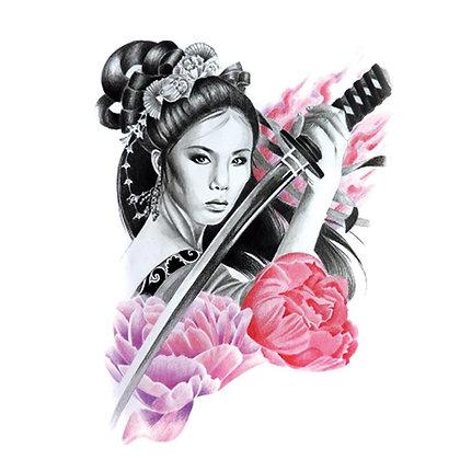 A Chinese Woman Warrior temp tattoo | לוחמת סינית