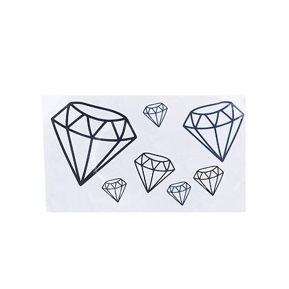 diamonds temp tattoo | יהלומים