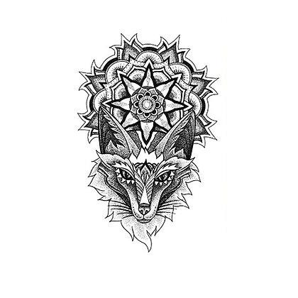 Tribal wolf temporary tattoo | קעקוע זמני טרייבל זאב