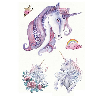 copy of Girls unicorn temporary tattoo |חד קרן ילדות 2