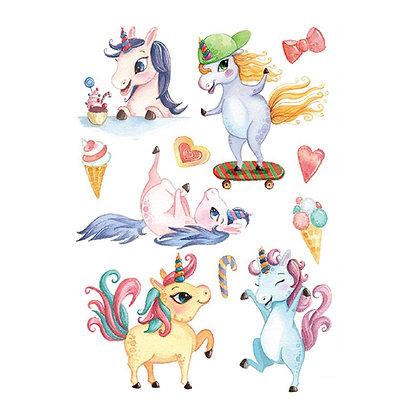 mix unicorn temp tattoo | מיקס חד קרן
