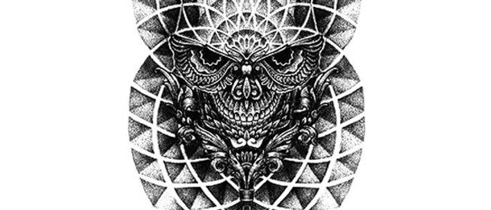Tribal skull temporary tattoo | קעקוע זמני טרייבל גולגולת