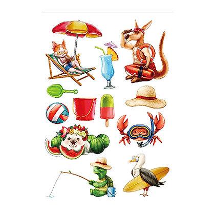 Animals kids2 temp  tattoo | 2קעקועים חיות לילדים