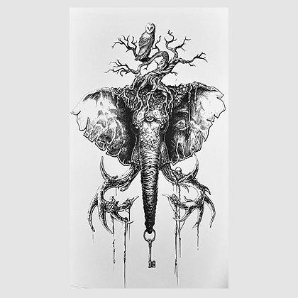 elephant temporary tattoo | פיל