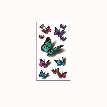 butterfly temp tattoo /פרפרים קטנים