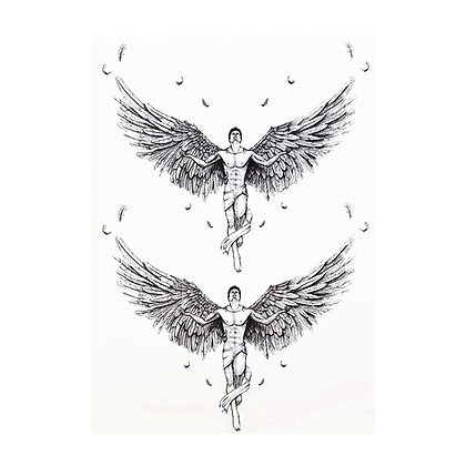 2 Angels temp tattoo | קעקוע זמני מלאך