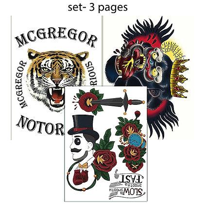 Conor McGregor temporary tattoo full set | קונור מקרגור סט מלא