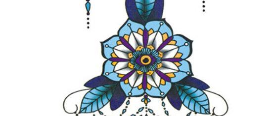 colored style Body decoration4| קישוט חזה דמוי חינה
