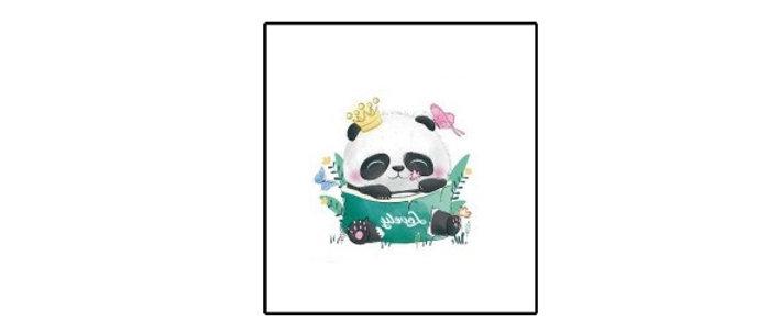 cute panda girl Temp tattoo | קעקוע זמני פנדה