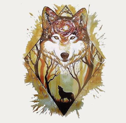 wolf forest tattoo |זאב יער
