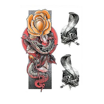 Snake python temporary tattoo | קעקוע זמני נחש פיתון