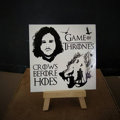 games of thrones tattoo / משחקי הכס ג'ון סנואו