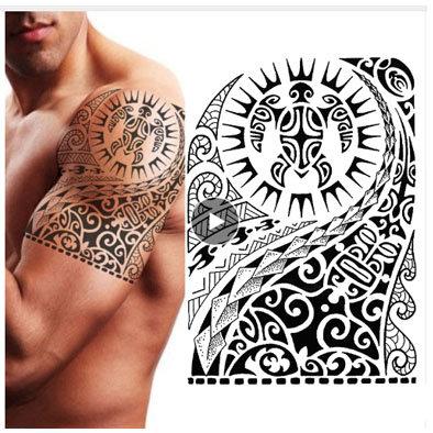 Tribal turtle temp tattoo | טרייבל צב