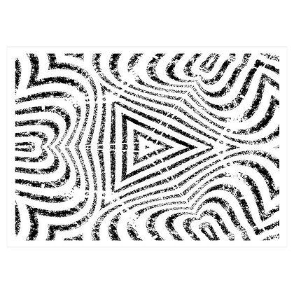 big lines paper tattoo / קונטור