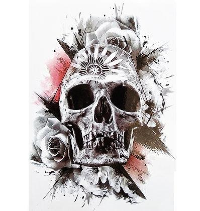 skull temp tattoo | גולגולת ארט