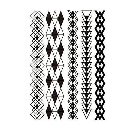 black henna style bracelet |צמידים שחורים