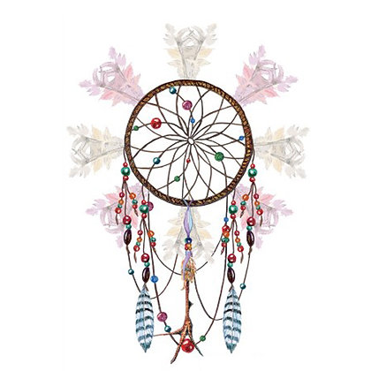 Dream catcher 1 temp tattoo | לוכד חלומות1