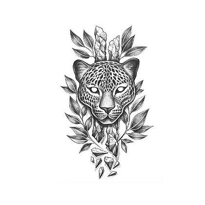 Tiger old school  temp tattoo | נמר שחור