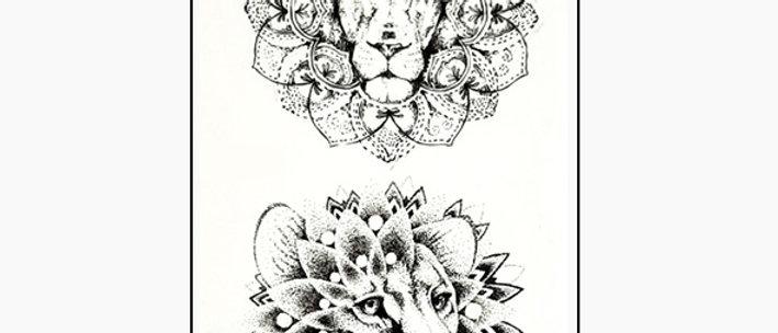 lions small tattoo | אריות