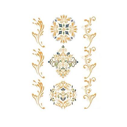 henna gold temp tattoo | קעקועי זהב, חינה, צמידים ליד