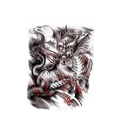 dragon monster temp tattoo | דרקון סיני