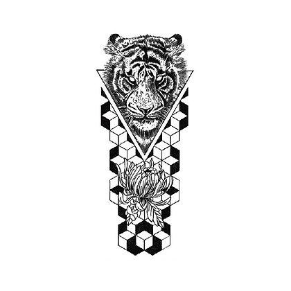 Tribal tiger temporary tattoo   קעקוע זמני טרייבל נמר
