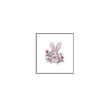 Rabbit girl Temp tattoo   קעקוע זמני ארנב ורוד