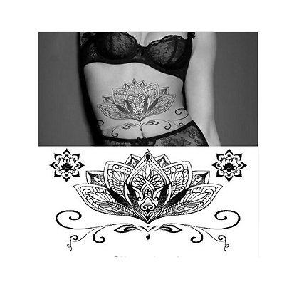 Big mandala / מנדלה שחורה פרח