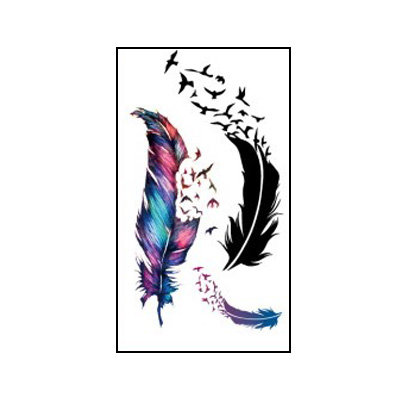 feathers small tattoo | נוצות