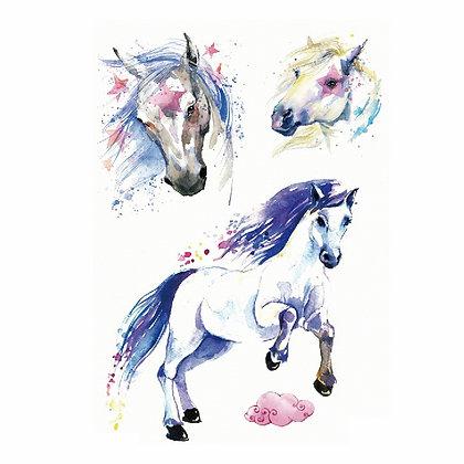 Horses temp tattoo | קעקועי סוסים