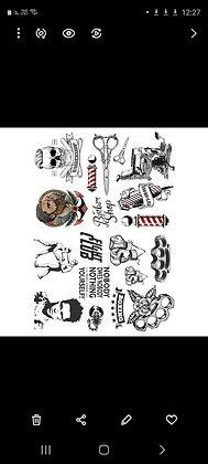 לילדים ספרים וקעקועים של מתאבקים/ mix page tattoos barber And fight club tattoos