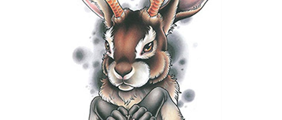 rabbit chicken anime tattoo | ארנב אנימה