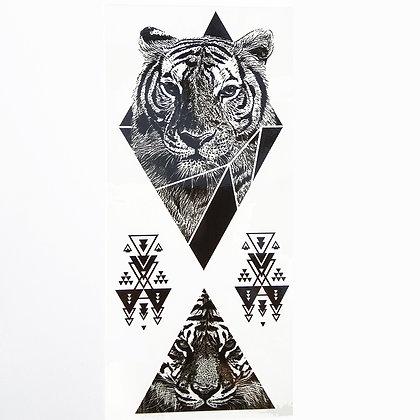 Tiger triangle tattoo  משולשי נמר