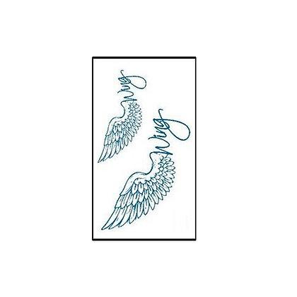 wing temp tattoo /כנפיים