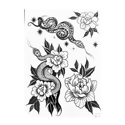 mix snakes temp tattoo | מיקס נחשים