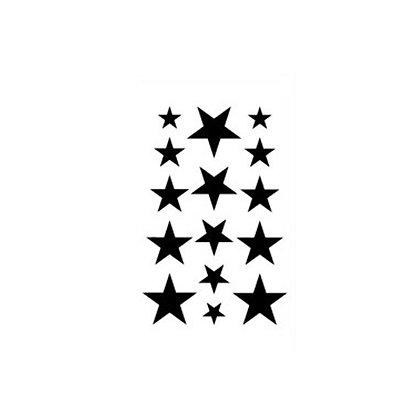 black stars tattoo | כוכבים שחורים