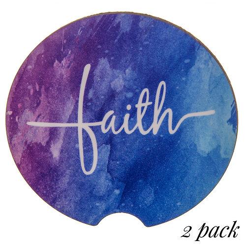 Car Coaster 2 Pack   Faith