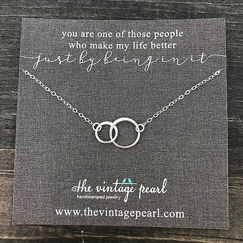 You are One Sterling Necklace