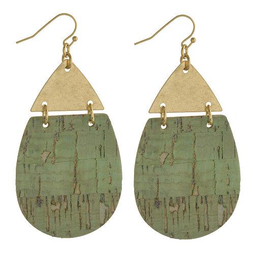Leather Dew Drop Earrings