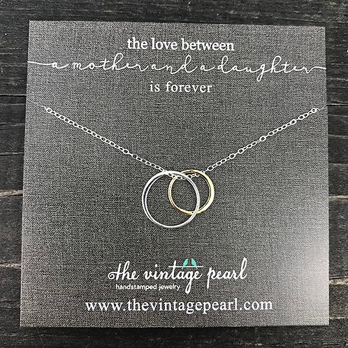 Mother/Daughter Sterling Necklace