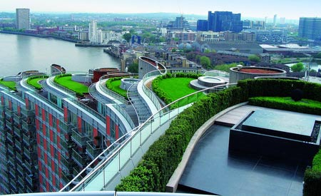 Cobertura Eco verde em Copenhague. Foto retirada da internet via Bing
