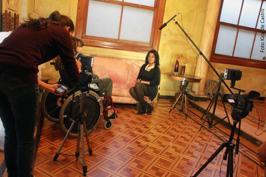 Imagens da gravação do Programa Viver Eficiente em Belo Horizonte. Na foto: Camila Cassiano da 1308 Produções, Adriana Buzelin e Edina Padua.