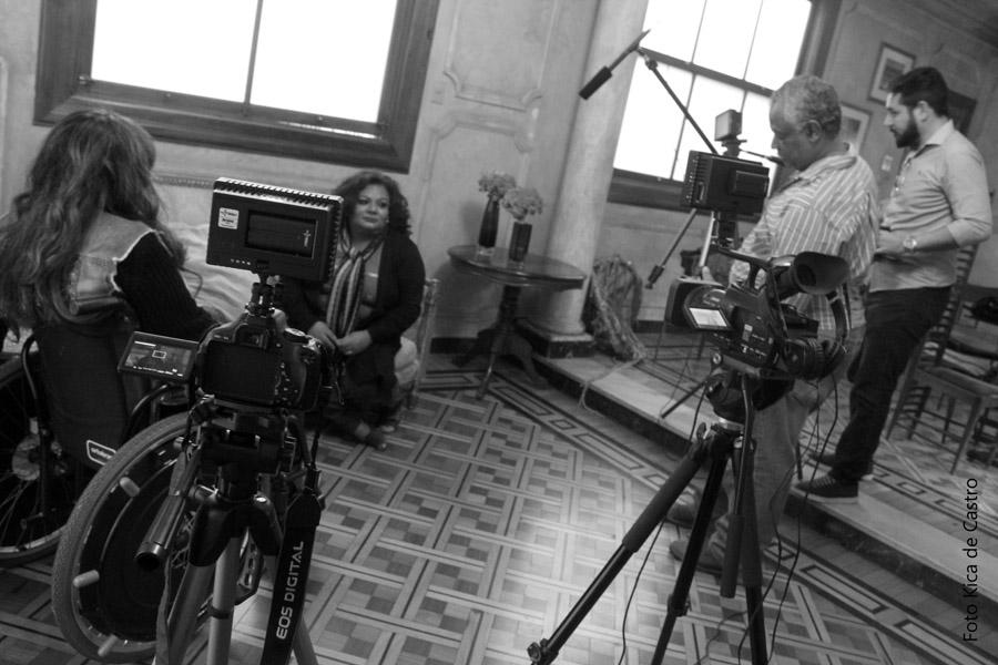 Imagens da gravação do Programa Viver Eficiente em Belo Horizonte. Na foto: Adriana Buzelin, Jaqueline Marques, Carlos e Wagner da 1308 Produções.