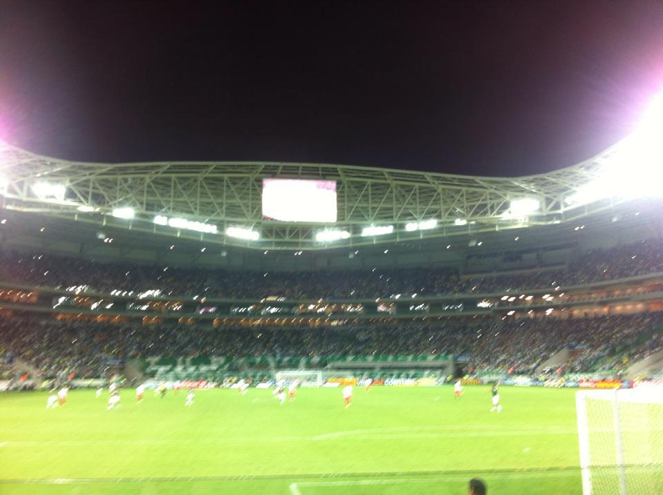 A ampla vista do estádio Allianz