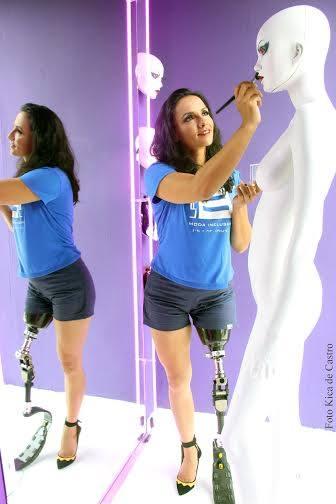 Marinalva de Almeida  Making off para o vídeo de manequins adaptados em parceria com Lado B.  Foto: Kica de Castro