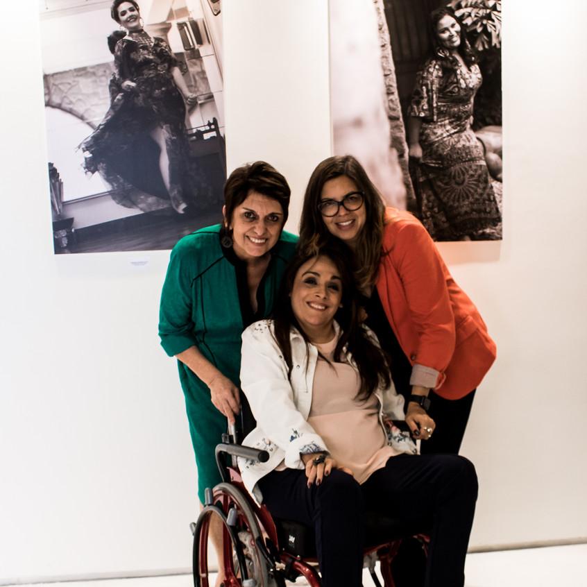 Odette Castro, Adriana Buzelin e Flávia Louzada.
