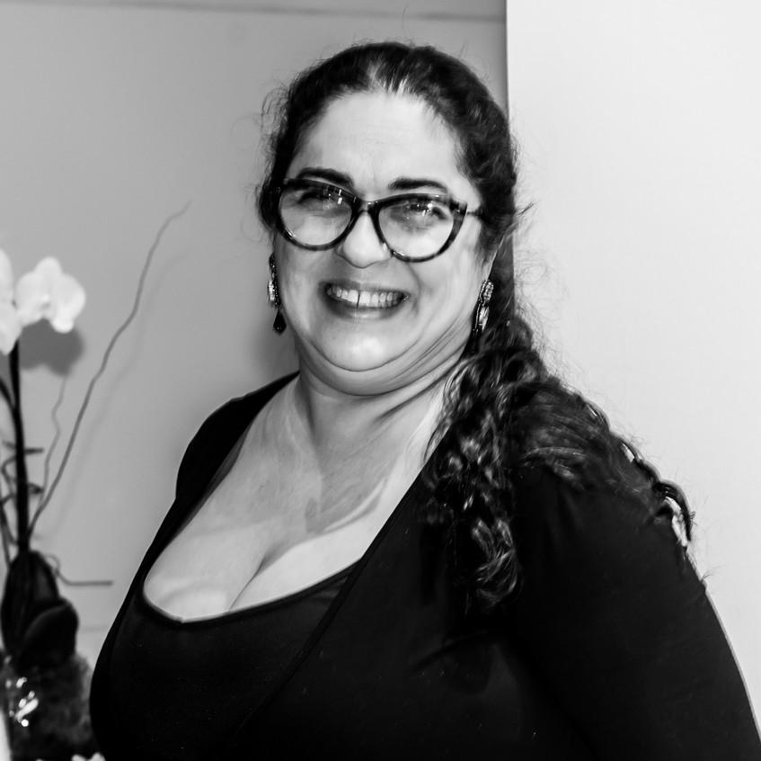 Anna Loureiro no Lançamento da exposição Retratos Inclusivos.