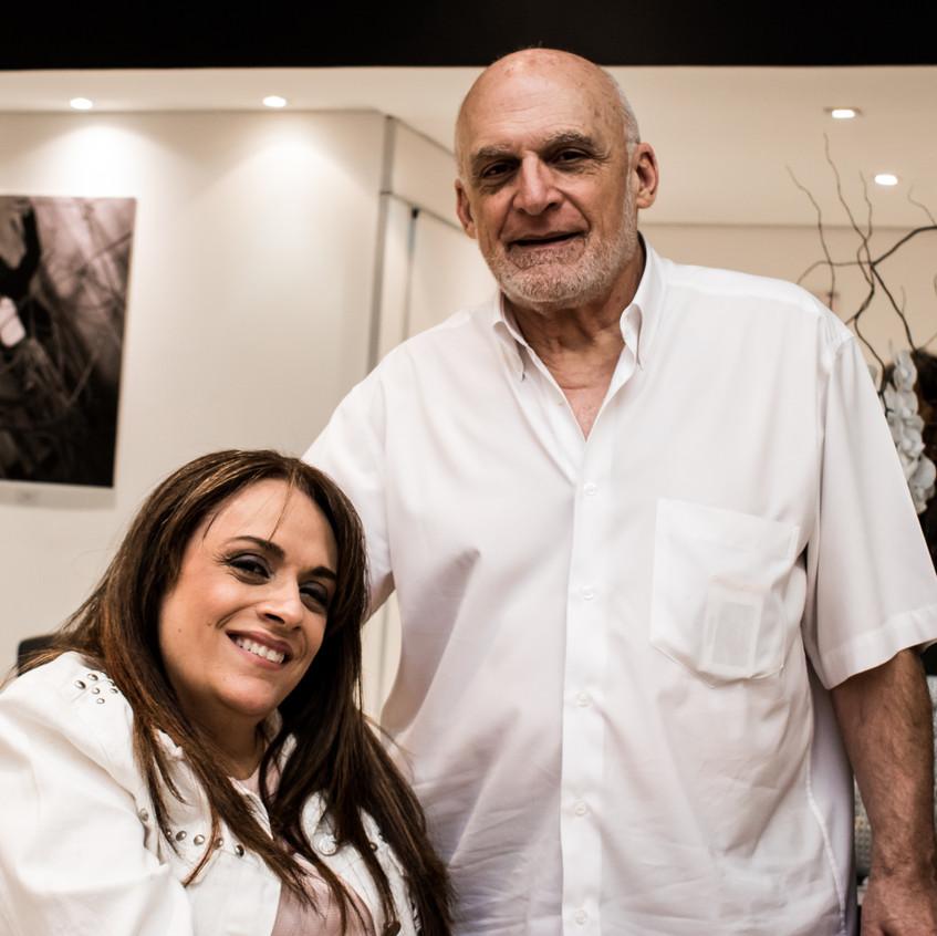 Adriana Buzelin, idealizadora do projeto, e seu pai Tarcísio Buzelin.