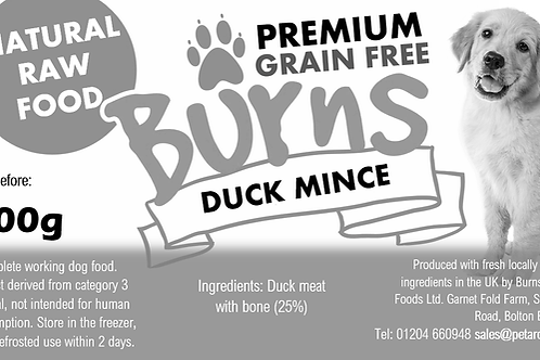 Wholesale - Pure Meat Mince - Duck