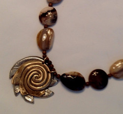Bronze & White Copper Spiral